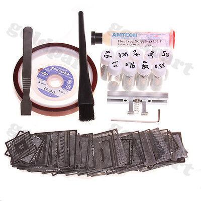 199pcs BGA Reball Rework Directly Heat Stencils + Amtech Paste Balls Station kit