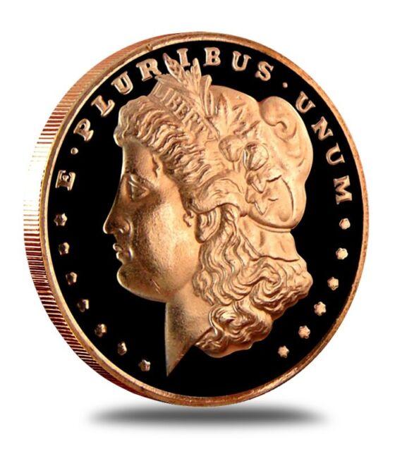 10-1oz COPPER COINS *MORGAN HEAD* .999 COPPER COINS INGOT BULLION LB OZ 1-5-20