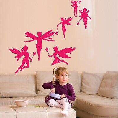 00463 Wall Stickers Adesivi murali cameretta bambini Fatine 100x90cm