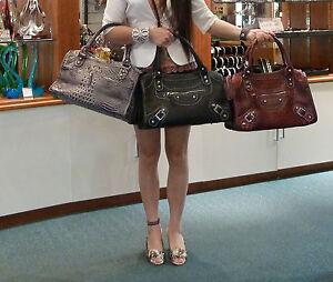 Womens-handbag-fashion-bag-shoulder-bag-3x-Colours-Black-Grey-and-Watermelon