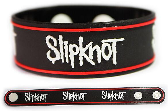 SLIPKNOT Rubber Bracelet Wristband << All Hope is Gone >> White
