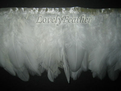Coque feather fringe of ivory color of 2 yards trim