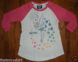 New-Authentic-Junk-Food-Disney-Tinkerbell-Raglan-Juniors-T-Shirt