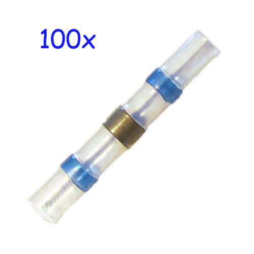 versch 100 Lötverbinder Schrumpfverbinder Kabelverbinder Größen zur Auswahl