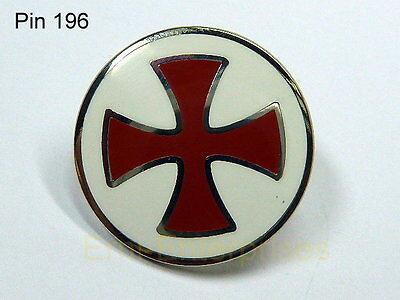 PIN  Tempelritter  Kreuzritter Rund Rotes Kreuz  Top Qualität 196 Neu