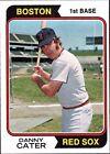 1974 Topps Danny Cater Boston Red Sox #543 Baseball Card