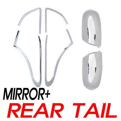 Chrome Side Mirror Rear Tail Cover For 2007 2011 Hyundai Veracruz ix55