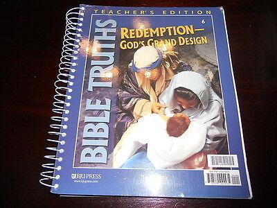 Bob Jones Bible Truths 6 Redemption God's Grand Design homeschooling 6th gr BJU