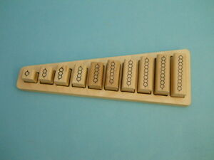 Montessori Bead Bar Mathematics Teaching System, wood mounted rubber stamps