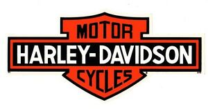 2-INSIDE-WINDOW-HARLEY-DAVIDSON-LONG-BAR-AND-SHIELD-10-034-XL-DECALS-FREE-SHIP