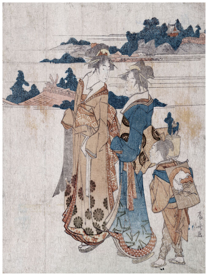 1404 Asian Geishas wall Art Decoration POSTER.Graphics to decorate home office.