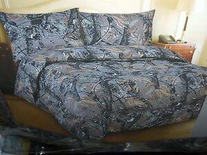 Camo-Hunt-Patern-7-Piece-King-Size-Comforter-Set-800-TC-Sheet-Set-New-gt-Free-To-US