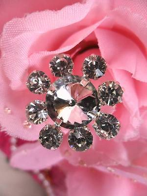"AXR97A Floating Flower Rhinestone Embellishment 1""  Great for cake decorating!"