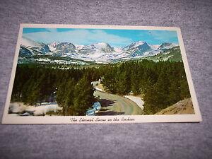VINTAGE-POST-CARD-THE-ETERNAL-SNOW-IN-THE-ROCKIES