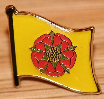 Lancashire England County Flag Enamel Pin Badge UK Great Britain