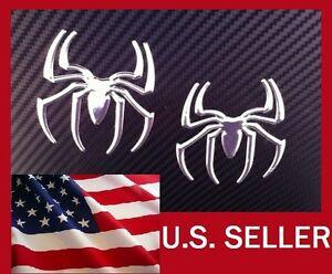 3D-CHROME-SPIDER-SPIDERMAN-DECAL-CAR-AUTO-WINDOW-STICKER-EMBLEM-BADGE-x2-020JE