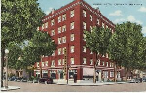 Image Is Loading Vintage Postcard C1947 Huron Hotel Ypsilanti Mi Michigan