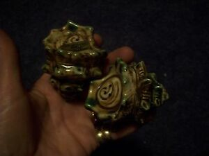 NICE VINTAGE OLD SALT & PEPPER SHAKERS JAPAN SOUVINOUR SEA SHELLS APPROX. 4 INCH