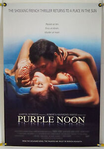 PURPLE-NOON-ROLLED-ORIG-1SH-MOVIE-POSTER-ALAIN-DELON-MAURICE-RONET-RR96-1960