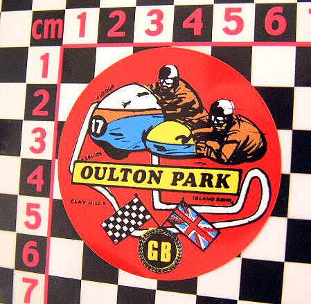 1960's Oulton Park Sticker Norton Triumph BSA AJS Triton Cafe Racer Honda