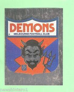 1983 SCANLENS VFL STICKER #101 MELBOURNE DEMONS FOIL EMBLEM