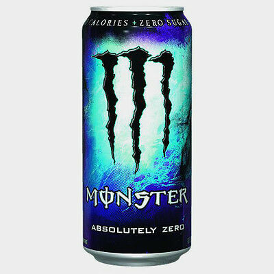 12 Dosen a 0,5L Monster Energy Absolutely Zero Drink inc. Pfand