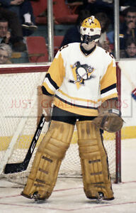 Michel-Dion-Pittsburgh-Penguins-Vintage-Goalie-8X12-Photo-Hockey-NHL