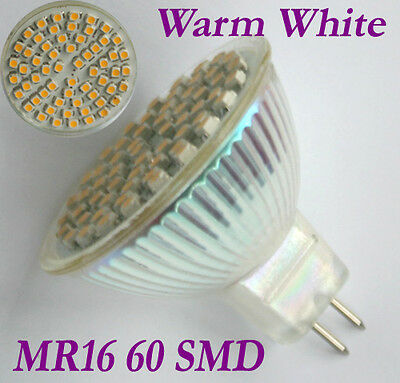 MR16 Warmweiß 60 LED 3528 SMD Enegiesparen Spotlight Lampen-Birne 12V
