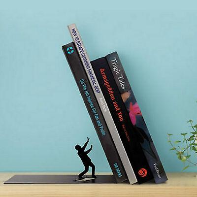 ArtOri Falling Bookend Black Humorous Metal Book Stand