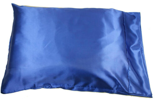 1pc New Queen//Standard Silk~y Satin Pillow Case Multiple Colors