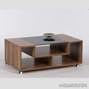 couchtisch zwetschge wei schwarzglas auf rollen. Black Bedroom Furniture Sets. Home Design Ideas