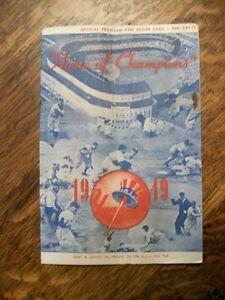 1949-NEW-YORK-YANKEES-VS-BOSTON-RED-SOX-PROGRAM-SCORECARD-NICE