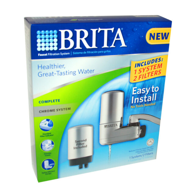 BRITA Water Faucet FILTRATION CHROME SYSTEM TWO FILTERS HIGH QUALITY Brand New