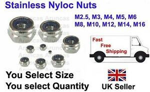 A2-Stainless-Steel-Nyloc-Nuts-M2-5-M3-M4-M5-M6-M8-M10-M12-Nylon-Insert-Lock-Nut