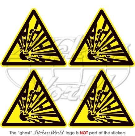 EXPLOSIVE Panneau d/'avertissement sécurité Explosion 50mm Vinyl Autocollant x4