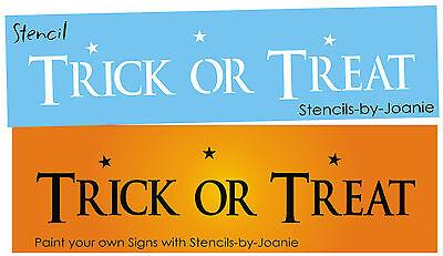 Primitive Country STENCIL Trick Treat Kids Halloween Scrapbook Easy Craft Signs