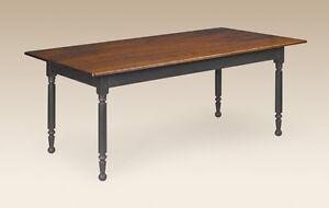 Dining Room Farmhouse Table Cherry Wood Primitive