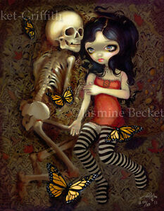 Almost-With-You-Jasmine-Becket-Griffith-CANVAS-PRINT-gothic-skeleton-lowbrow-art