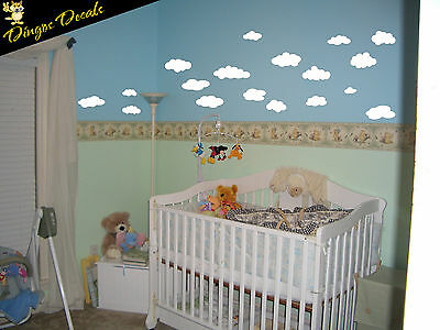18 Clouds Nursery graphic Vinyl Wall art Decal Sticker Decor Removable
