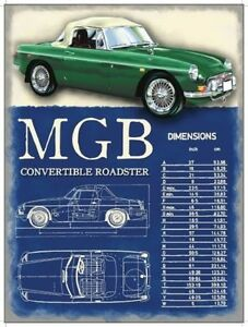 MG-MGB-Roadster-1967-Classic-British-Sports-Car-Small-Metal-Tin-Sign-Picture