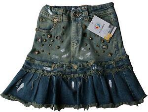 Maedchen-Kinder-Teens-Jeans-mini-Rock-Kinderrock-Gr-92-bis164-Baumwolle-NEU