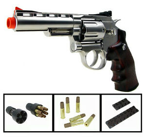 WG-701s-Win-Gun-4-inch-Airsoft-12gr-CO2-Gas-Metal-Revolver-Pistol-m9-w-Shells
