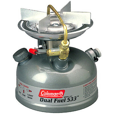 Coleman Sportster II Dual Fuel Single Burner Stove Camping Cooking 533 Model NIB