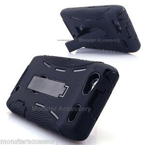 Black-Kickstand-2-in-1-Double-Layer-Hard-Case-For-Motorola-Droid-RAZR-XT910