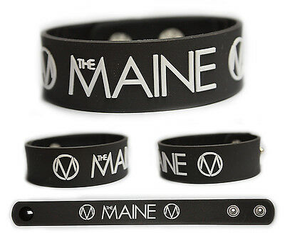 THE MAINE Rubber Bracelet Wristband << Black and White >>
