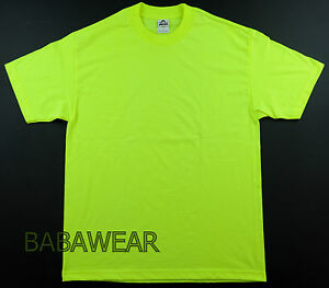 AAA High Visibility Neon Green Plain T Shirt Safety BABA #1: s l300