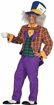 Mad Hatter Alice in Wonderland Tea Party Crazy Dress Up Adult Halloween Costume
