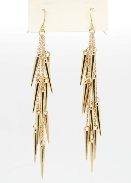 "Hot New Sell!!! Fashion Dangle 5"" dropping Golden/Silver/Black Earrings ZKA"