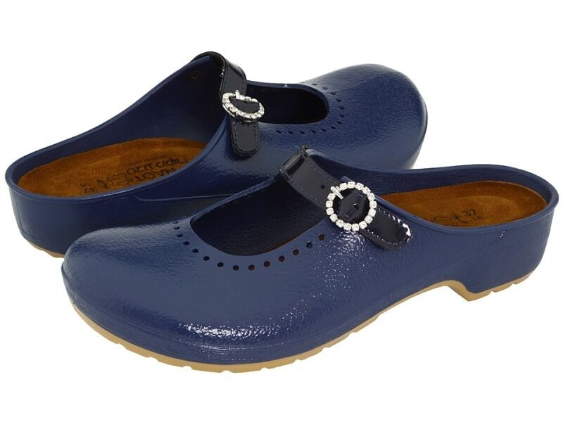 nuovo Ladies donna Naot Mika Slide Mule Clog sautope Electronic blu Dimensione 38 39 7 8