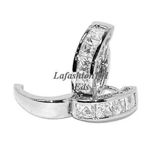 1-76ct-HUGGIE-HOOP-PRINCESS-CHANNEL-SET-EARRINGS